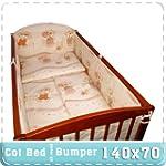 Nursery Baby Cot Bed Bumper / Pad 70x...