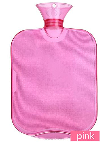 DOULINE Premium Classic Rubber Hot Water Bottle with Flowers Flannelette cover, Ideal for Pain Relief, Hot and Cold Therapy (2 Liters, PINK) (Armor Lid Bed Cover compare prices)