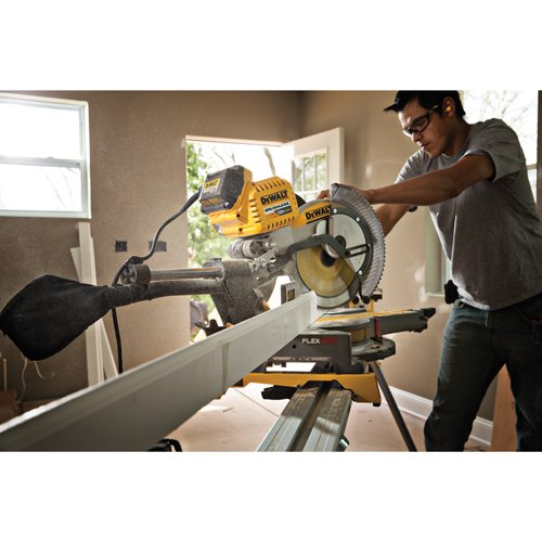 "DEWALT DHS790AT2 FLEXVOLT 120v MAX 12"" Double Bevel Compound Sliding Miter Saw via Amazon"
