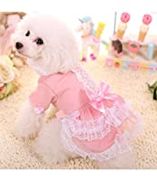 PetsLove Pet Princess Costume Dog Clothes Cat Dress Coats Clothing Apparel Outwear for Winter