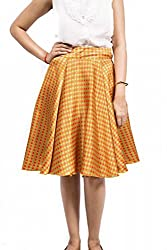 Fadjuice Women's Pleated Skirt (9111S_Multi Color_Small)