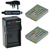 ChiliPower Canon NB-5L 1100mAh Battery 2-Pack + Charger (UK Plug) for Canon Powershot S100, S110, SD700 IS, SD790 IS, SD800 IS, SD850 IS, SD870 IS, SD880 IS, SD890 IS, SD900 IS, SD950 IS, SD970 IS, SD990 IS, SX200 IS, SX210 IS, SX220 IS, SX230 HS