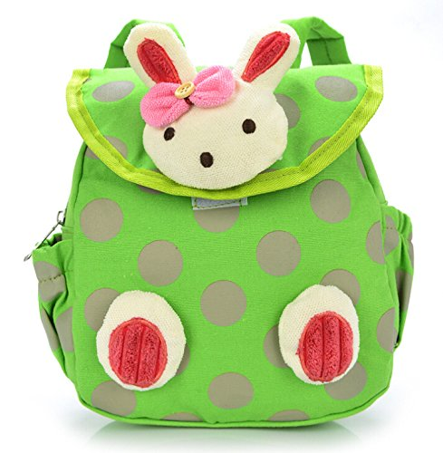 Pumud Baby Toddler Child Kid 3D Cartoon Backpack Schoolbag Shoulder Bags (Green)