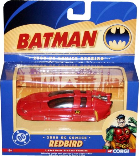 2000 DC Comics Robin's REDBIRD 1:43 Scale Die-Cast Vehicle CORGI 2004 Batman Collectibles