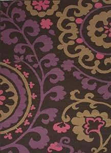 "Amazon.com - Maroc Pink/Purple Floral Rug Rug Size: Runner 2'6"" x 8"