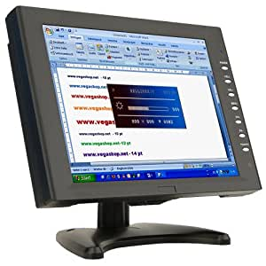 Ecran tactile 12,1 pouces TFT LCD VGA AV, Noir