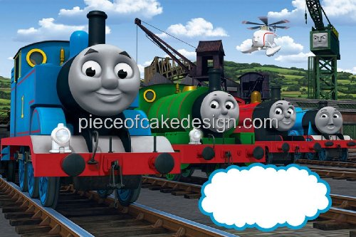1/4 Sheet ~ Thomas & Friends Group Birthday ~ Edible Image Cake/Cupcake Topper!!!