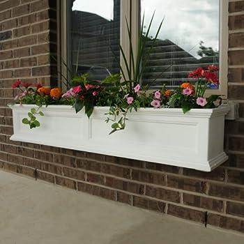Mayne Fairfield 5824W Window Box Planter, 5-Foot, White