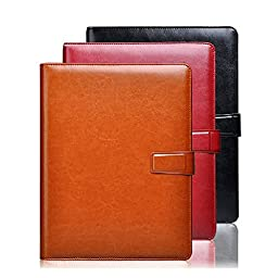 A4 sheet clip high end business manager folder with pen and calculator loose leaf note book
