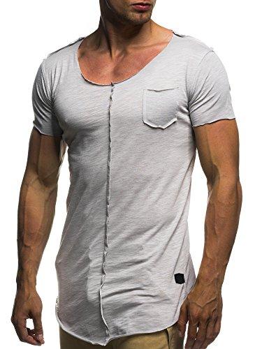 leif-nelson-herren-oversize-t-shirt-rundhals-basic-shirt-ln6288-grse-l-grau