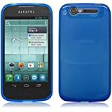 PrimaCase - Schutzhülle für Alcatel One Touch 997D / Base Lutea 3 - TPU Silikon in Transparent Blau