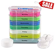 Pill Organizer Box Weekly Case with P…