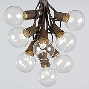 Amazon.com : G50 Globe Outdoor String Lights With 125 Clear Globe Bulbs By Novelty Lights ...