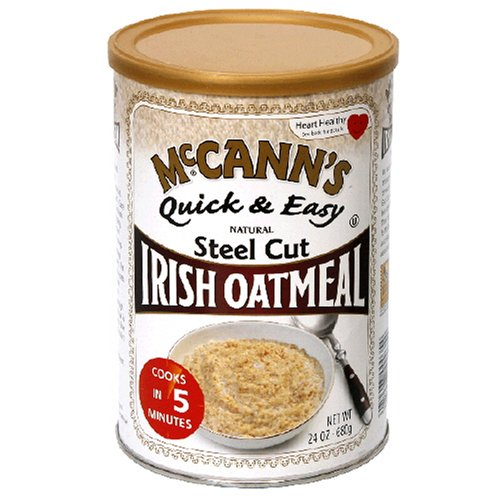 McCANN'S Steel Cut Irish Oatmeal, Quick & Easy, 24-Ounce Canisters (Pack of 6)