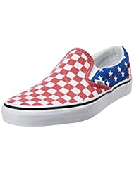 Vans Men's Van Doren Stars, Stripes And Checker Canvas Boat Shoes - 8 US/7 UK