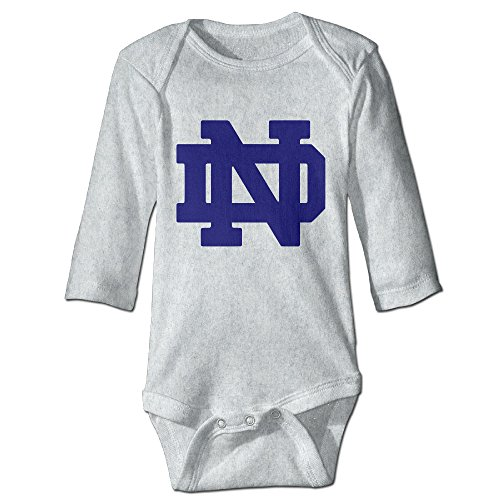 girls-notre-dame-fighting-irish-logo-100-cotton-climbing-clothes-ash-18-months