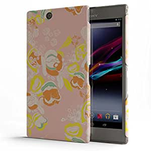 Koveru Designer Protective Back Shell Case Cover for SONY XPERIA Z Ultra - Pink Flower Abstract
