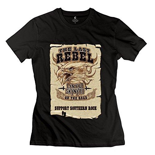 Laugh Dusk Women's Lynyrd Skynyrd The Last Rebel T-shirt