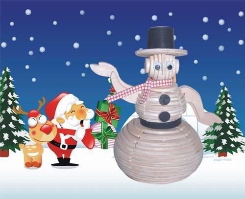 Snowman 3D Wooden Puzzle