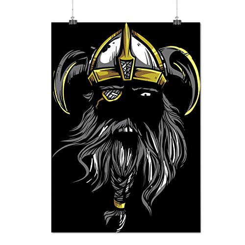 Viking-Warrior-Axe-Face-Battle-MatteGlossy-Poster-A0-A1-A2-A3-A4-Wellcoda