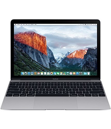 Apple MacBook 12-inch Laptop (Intel Core m5 1.2 GHz, 8 GB RAM, 512 GB SSD, Intel HD Graphics 515, OS X El Capitan) - Space Grey - 2016 - MLH82B/A - UK Keyboard