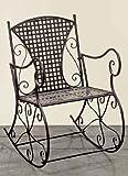 Boltze - Sedia a dondolo in metallo da giardino, modello Konya, larghezza 57 cm, colore marrone