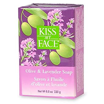 Kiss My Face Olive and Lavender Bar Soap, 8 Ounce -- 6 per case.