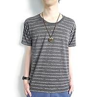 (モノマート) MONO-MART 8color ボーダー 5分袖 カットソー Tシャツ メンズ