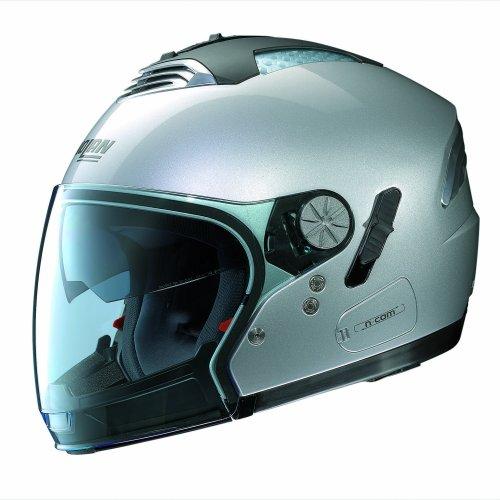 Nolan Air Classic N-Com N43 Motorbike Helmet Size M Platinum Silver