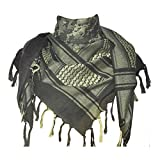 Explore Land 100% Cotton Military Shemagh Tactical Desert Keffiyeh Scarf Wrap (Camouflage)