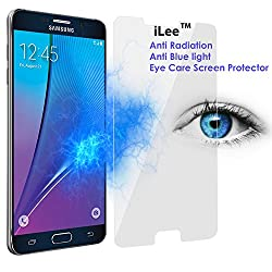 iLee Anti Radiation Eye Care Premium TEMPERED Glass Screen Protector For SAMSUNG GALAXY NOTE 5