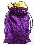 Rune/tarot Bag: Purple Velvet and Marigold Satin Bag