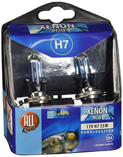 kit 2 ampoule h7 tuning xenon bleu 12v 55w. Black Bedroom Furniture Sets. Home Design Ideas
