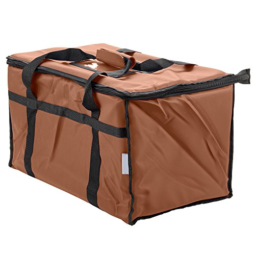 Insulated Food Delivery Bag Pan Carrier (Brown) (Commercial Food Carrier compare prices)