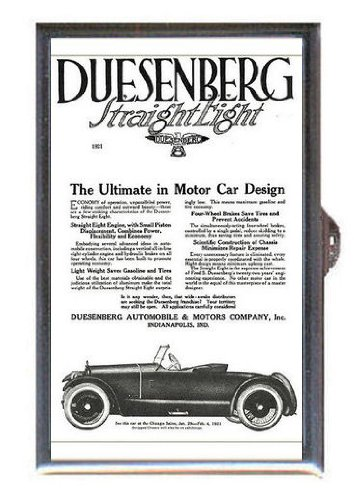 1921-duesenberg-straight-eight-automobile-ad-guitar-pick-or-pill-box-usa-made