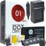 DOT-01 Brand 2200 MAh Replacement Canon LP-E12 Battery And Charger For Canon REBEL SL1 Digital SLR Camera And Canon LPE12 Accessory Bundle With BONUS Lens Blower Brush Cleaning Kit And Hard Memory Card Case