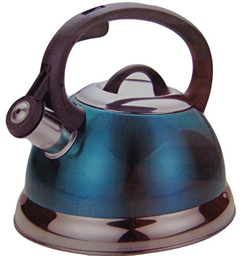 2.5 Qt Whistling Tea Kettle in Teal