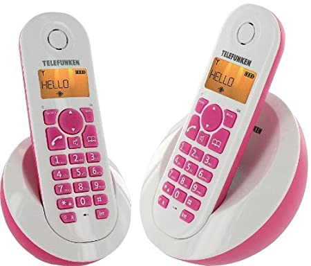 T�l�phone fixe TELEFUNKEN TB202 ROSE DUO
