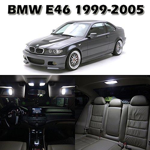 Partsam 1999-2005 Bmw E46 Sedan Wagon Coupe White Interior Light Led Package (16 Pieces)