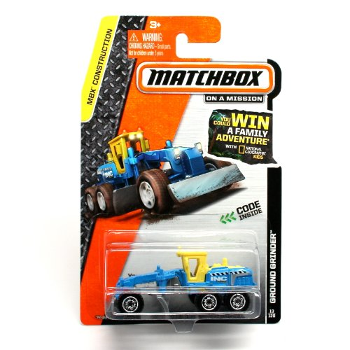 GROUND GRINDER (BLUE) * 2014 MBX CONSTRUCTION * Matchbox 1:64 Scale Basic Die-Cast Vehicle (#13 of 120)