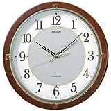 SEIKO CLOCK(セイコークロック) ソーラープラス 木枠電波掛時計(茶) SF232B