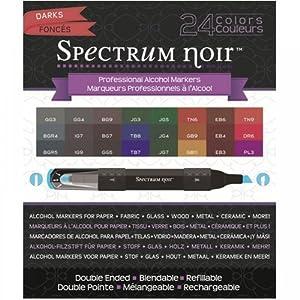 Spectrum Noir Alcohol Markers - Darks - 24 pack