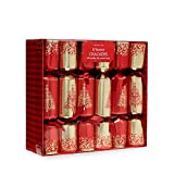 Debenhams Set Of 12 Christmas Tree Print Luxury Christmas Crackers