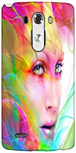 Snoogg Colorful Hair Woman 2769 Designer Protective Back Case Cover For LG G3