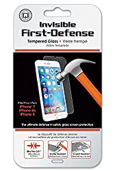 Qmadix Invisible First-Defense Tempered Glass 9H for Apple iPhone 6 - Retail Packaging - Clear