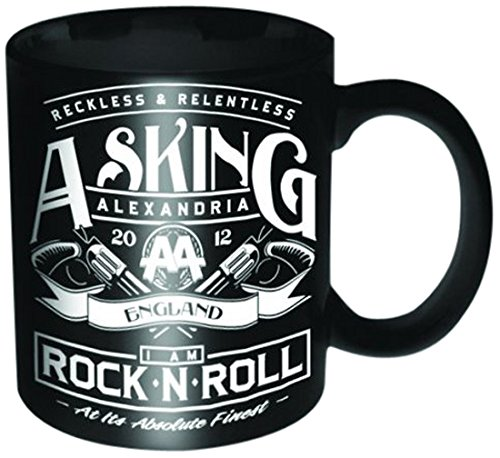 Asking Alexandria Rock N Roll Ceramic Mug inscatolato