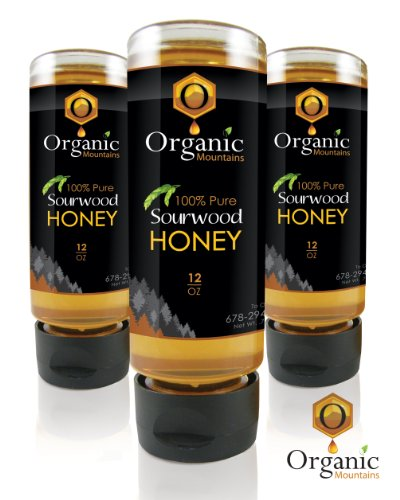 Organic Mountains 100% Pure Honey - Sourwood - 3 Pack