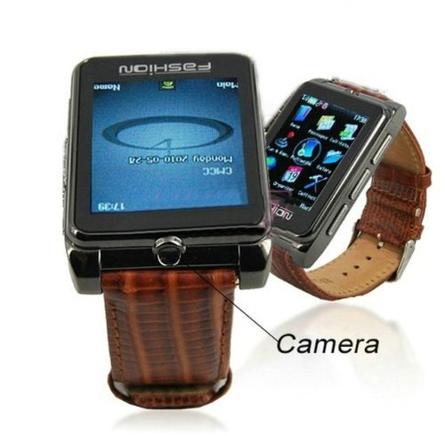 Quad-Band Gsm Unlocked Watch Mobile Phone 1.8Inch Touch Lcd 1.3Mp Camera Single Sim Standby Support Bluetooth Hands Free Mp3 Mp4