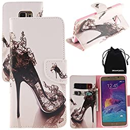 DRUnKQUEEn Note 5 Case, PU Leather Credit Card Holder Case Stand Feature Wallet Type Flip Folio Cover - for N920 Samsung Galaxy NOTE5
