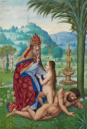 The High Quality Polyster Canvas Of Oil Painting 'Scenes From The Creation, About 1525 - 1530 By Simon Bening' ,size: 30x45 Inch / 76x113 Cm ,this Amazing Art Decorative Prints On Canvas Is Fit For Basement Decoration And Home Decor And Gifts